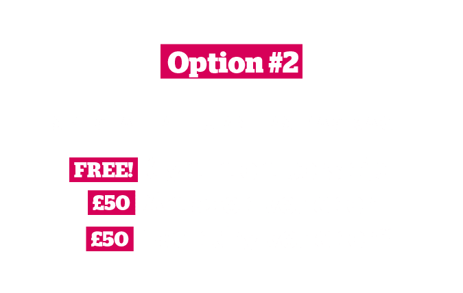 Returners Offer Option 2: Special Returners' Package of free gym membership, £50 Amazon voucher or £50 laundry voucher