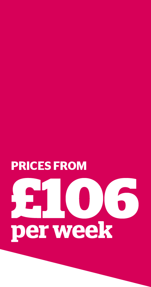 Prices from £106 per week